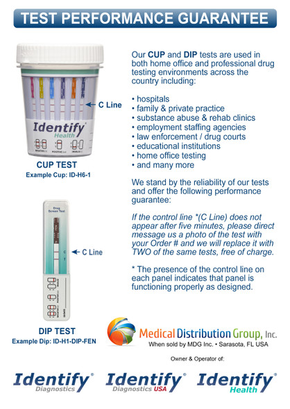 Identify Health Drug Test Dips - PERFORMANCE GUARANTEE - Medical Distribution Group