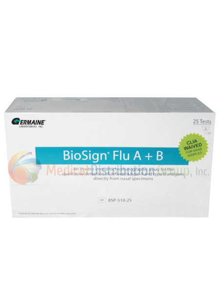BioSign Influenza Flu Test Type A, B - Nasal Swab - CLIA Waived