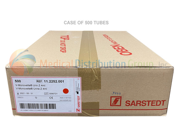 Vacuum Urine Collection Tubes Germany - 4ml - Yellow Case 500 Vials