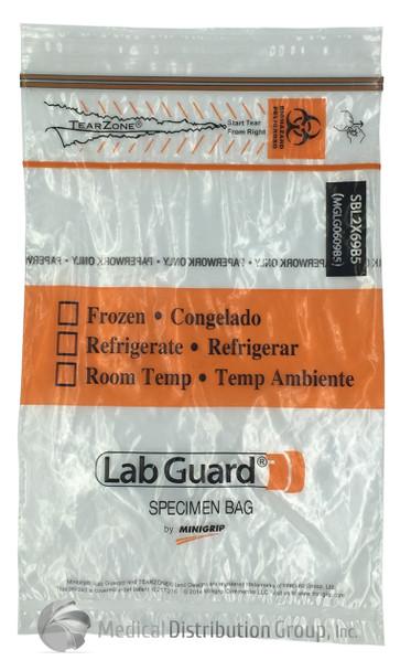 Lab Guard Polyethylene Specimen Bags - 1000 bags SBL2X69B5