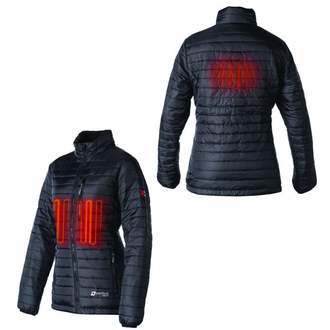 Womens Heated Clothing >> Women S Heated Insulated Jacket Batteries Not Included