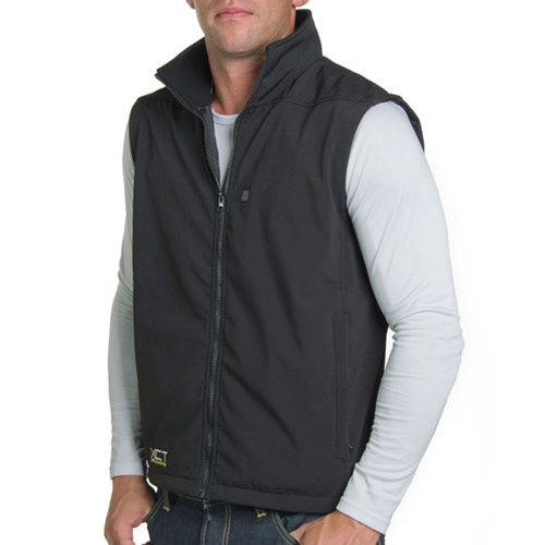 City Collection Soft Shell Heated Vest for Men, 9536