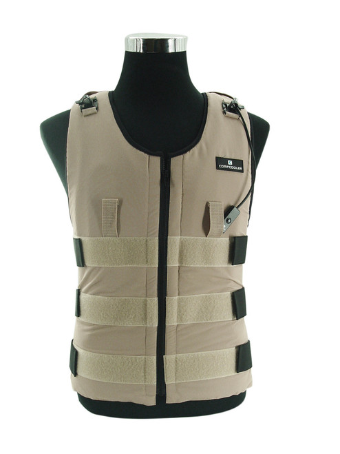 Ice Water Circulating Cooling Vest Tan Detachable 2L Bladder