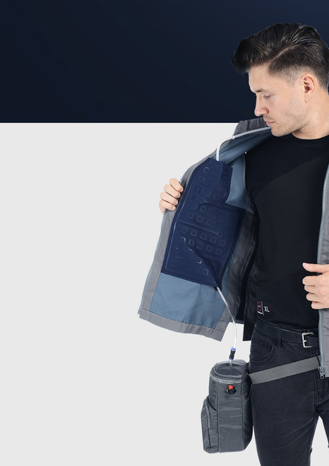 1.5 Litre Ice Water Circulating Cooling Vest Gray Fanny Bag