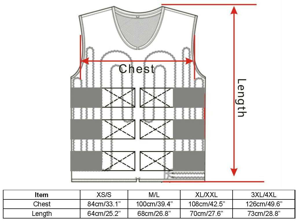 Compcooler 2018 Cooling vest Sizing