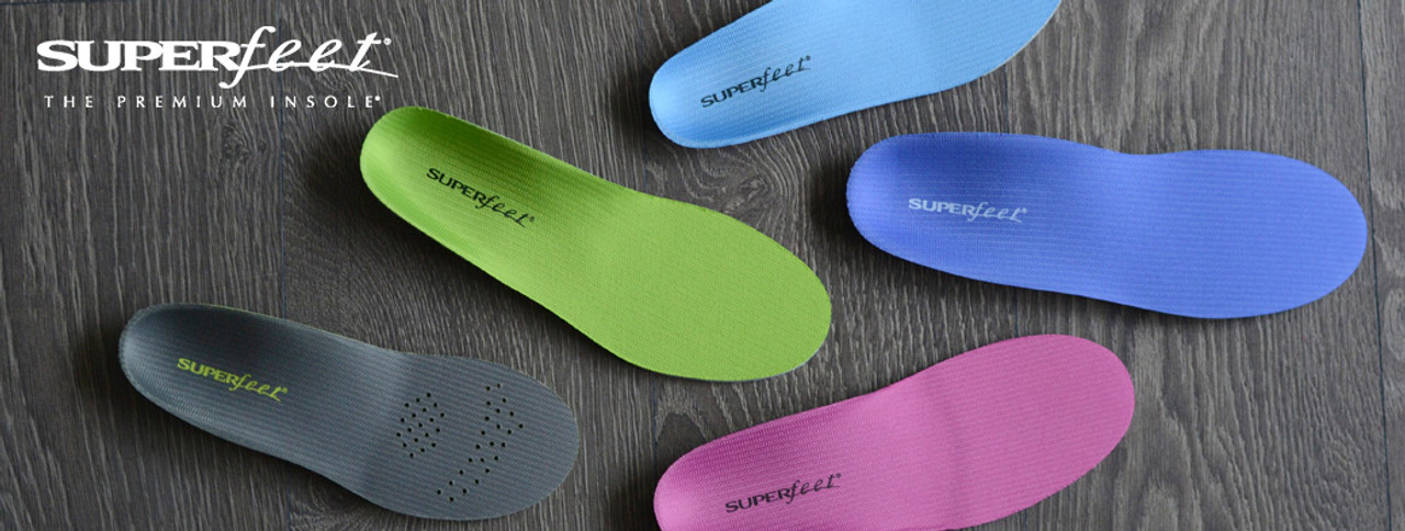 Superfeet green, blue, berry and more in stock.
