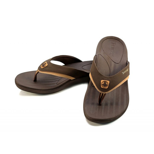 Powerstep Fusion sandals for men in brown