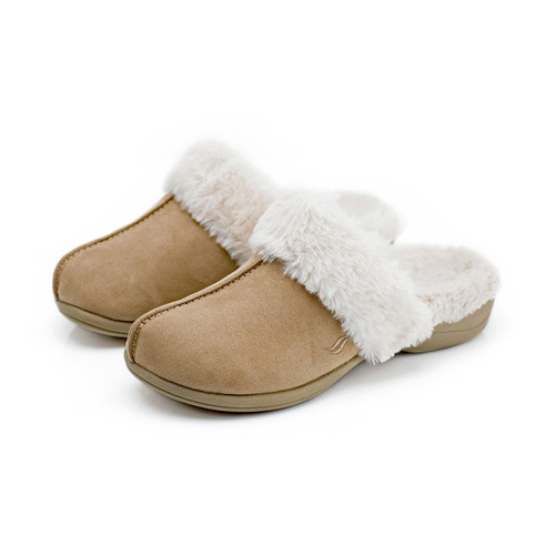 Luxe women's slippers - Taupe Powerstep side view
