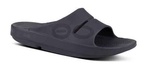 Oofos OOahh Sport Slide Sandal Unisex - Black Matte