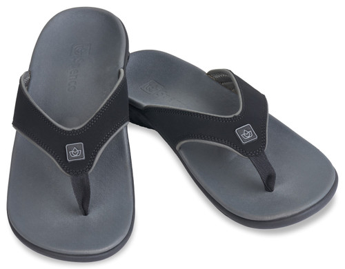 Spenco Yumi Plus Men's Sandals - Carbon Pewter