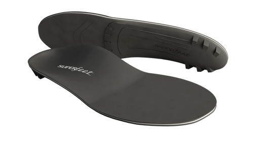 Superfeet Black DMP molds to your sensitive feet. Use in any footwear for low to medium arches.