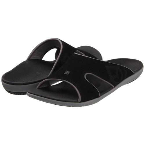 Spenco Kholo Men's Orthotic Slide Sandals Carbon Pewter