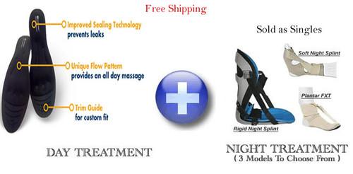 Amazing Insoles and Night Splint Plantar Fasciitis Treatment Combo