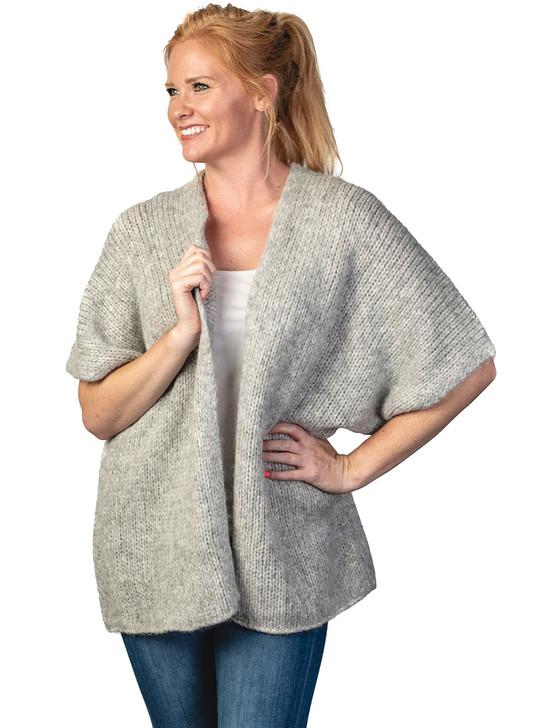 Inca Fashions Lady's Teagan Baby Alpaca Blend Cardigan Front