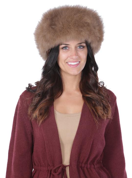 Alpaca Fur Hat  Front Close-Up