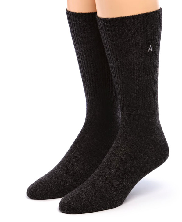 Warrior Baby Alpaca Dress Socks for Men or Women Front