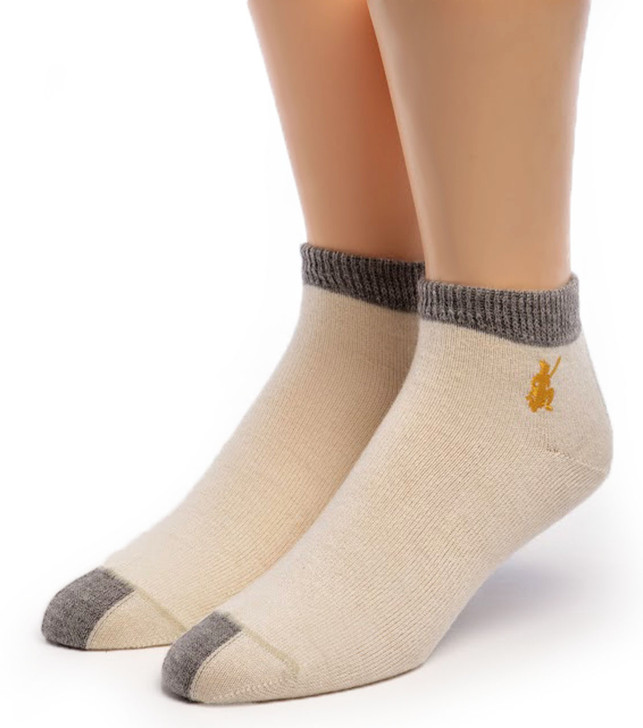 Light Mini Crew Alpaca Wool & Pima Cotton Socks Front