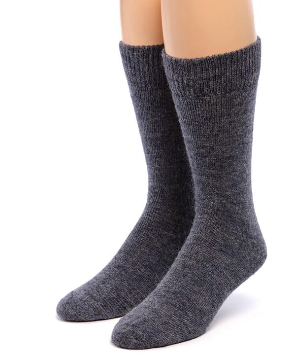 Outdoor Terry Lined 100% Alpaca Socks Front