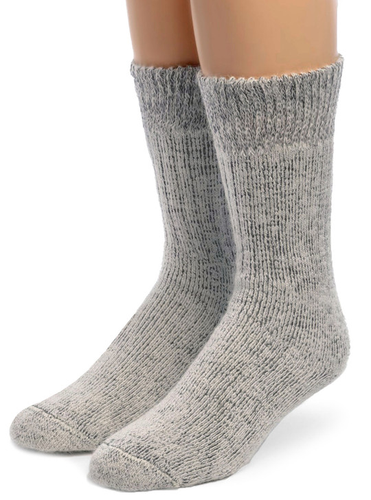Toasty Toes Comfort Band - Ultimate Alpaca Socks Front Light Gray