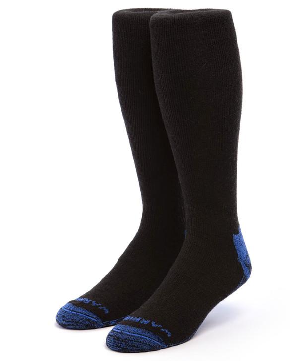 High Performance Knee High Athletic Alpaca Socks Front Black