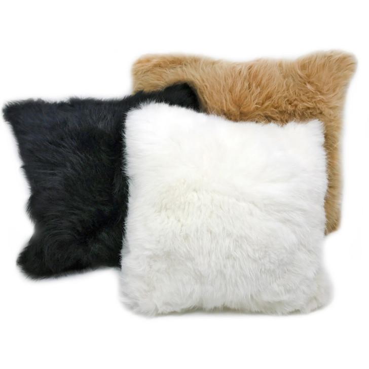 Alpaca Fur Pillow Covers Dye-Free natural colors