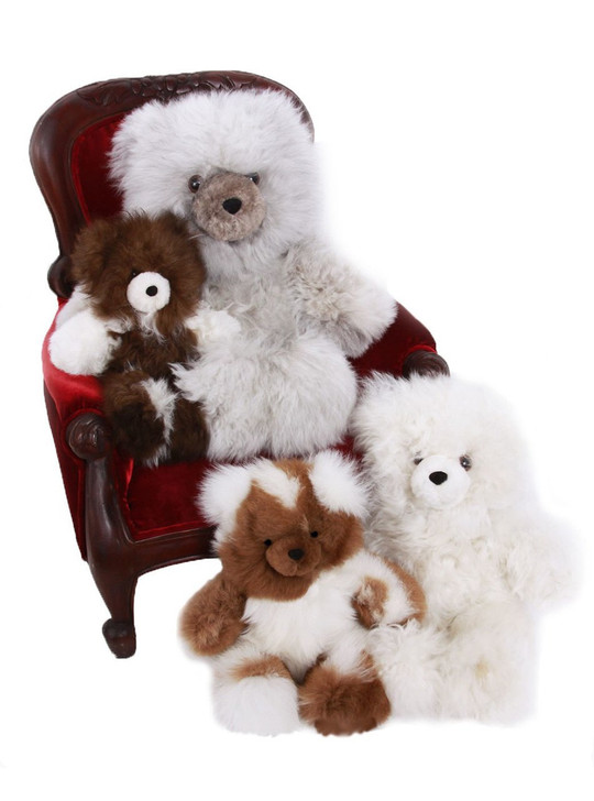 "Alpaca Fur Teddy Bears Classic sizes 10"", 12"" 16"" & 18"""