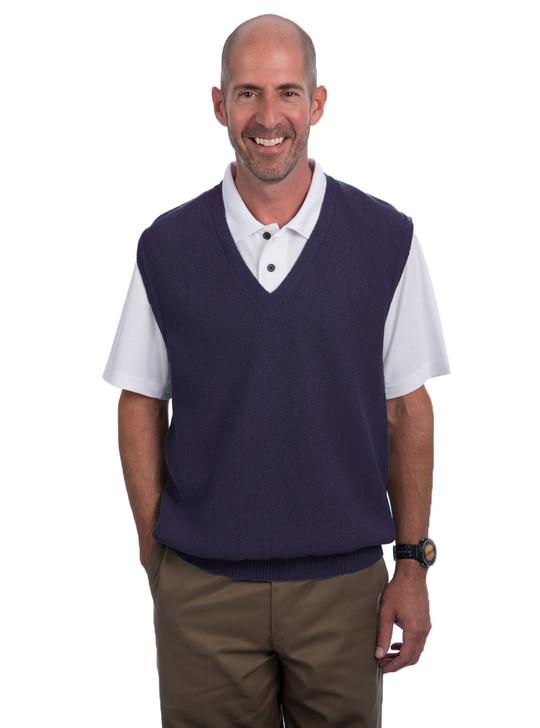 Men's Alpaca Wool Golf Pullover Sweater Vest Front