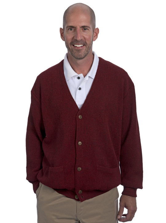 Men's Alpaca Button Down with Pockets Front on Model