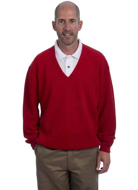 Alpaca Links V-Neck Pullover Front on Model