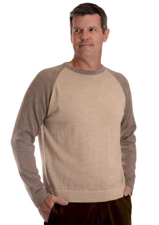 Men's Baseball Pullover Sweater On Model - Front