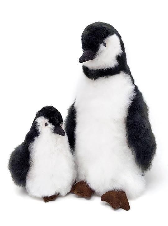 Inca Fashions Alpaca Fur Stuffed Animal Penguin Adult & Chick - Front