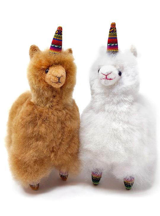Inca Fashions Alpaca Fur Stuffed Animal Unicorn - Alpacacorn - Alley, colors