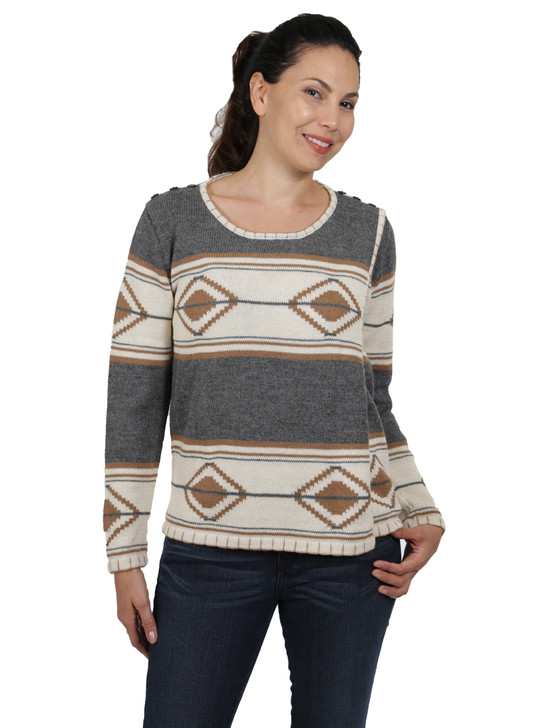 Aztec Blanket Pullover Sweater Front