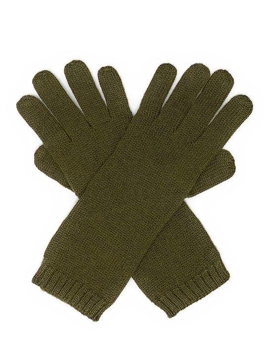 Long Jersey Knit Gloves - 100% Baby Alpaca