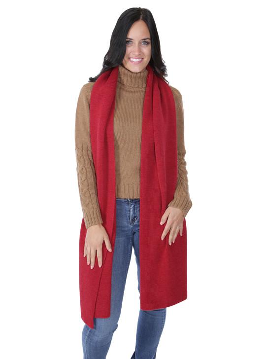 Women's Harper  100% Baby Alpaca Wool Oversized Knit Scarf Full Size