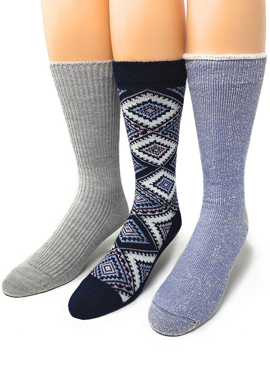 Warrior 100% Alpaca Socks Women's Cozy Toes 2 Relaxation Gift Set
