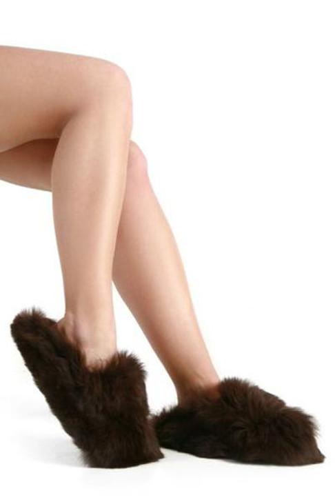 Alpaca Fur Slippers Clog Style / Slip on