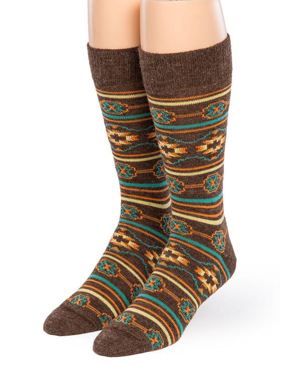 Southwest Fancy Pattered 100% Alpaca Wool Socks for Men & Women Front