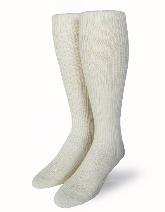 Old Fashioned Tender Tube Socks made with 100% Baby Alpaca Wool  Front