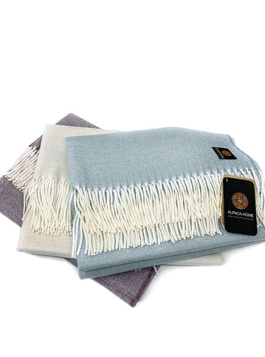 Hampton's Throw Blanket - Premium Baby Alpaca by Alpaca Home Collection
