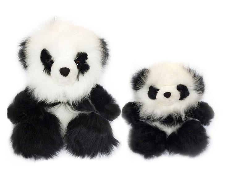 Sitting Chubby Panda Bears