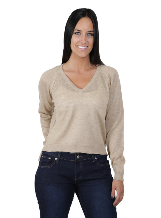 Beach V Cropped Pullover  Front