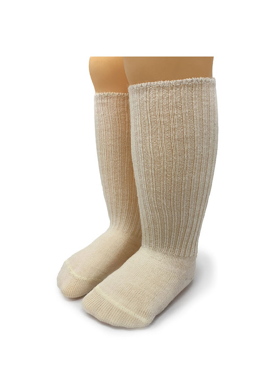 Dye & Bleach Free 100% Baby Alpaca Wool Baby Socks Front