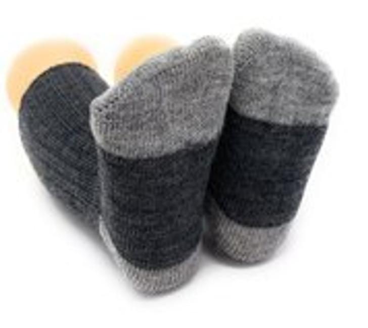 Baby Alpaca Color Block - Dye-Free Infant & Toddler Socks  Bottom View