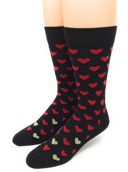 Found Hearts 100% Alpaca Wool Socks  Front - Large