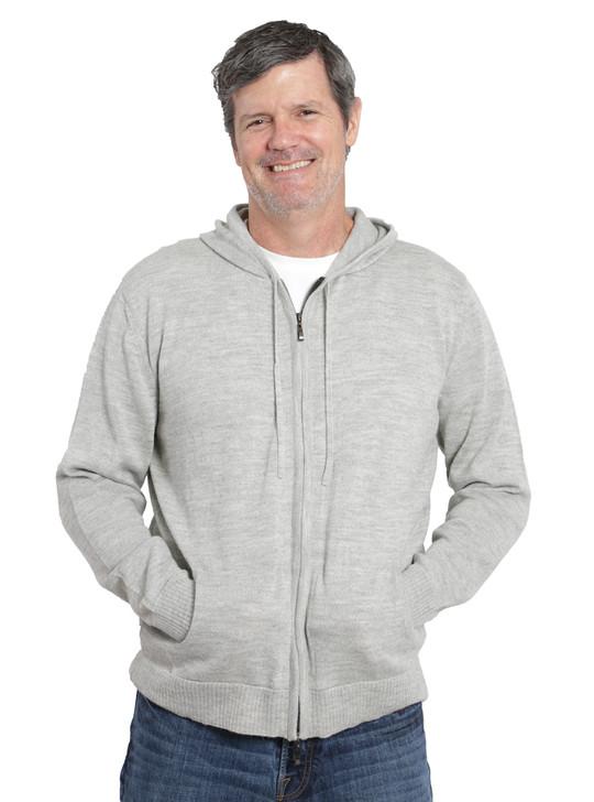 Men's Zip Front Hoodie Alternate Hands in Pockets