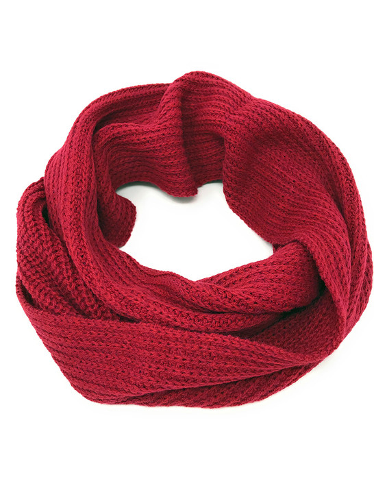 Hand Knit Infinity Circular Scarf / Snood - 100% Alpaca Wool & Acrylic Snood only
