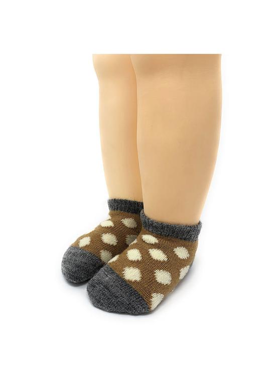 "Baby Alpaca Wool ""Spot-On"" Anklet Baby Socks Toe"