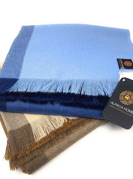Dusk 2 Dawn Throw Blanket - Alpaca, Wool & Cashmere Blend Main