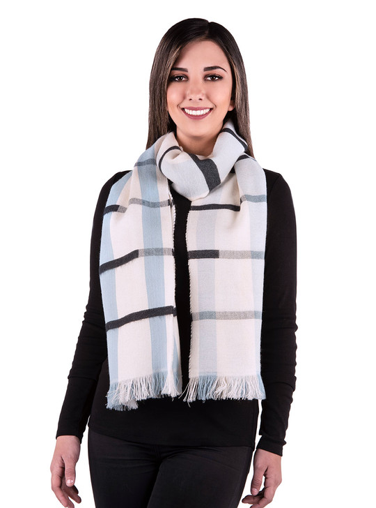 By The Bay Baby Alpaca Oversize Scarf 100% Baby Alpaca Wool Looped on Model